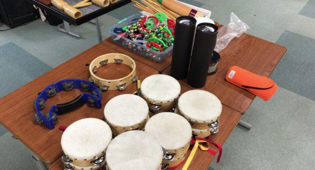 打楽器アウトリーチを行いました。