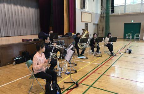 北区立堀船小学校でのスクールコンサート